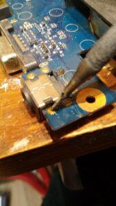 cambio conector portatil laptop dc jack teclado samsung r540-11