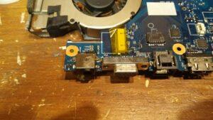 cambio conector portatil laptop dc jack teclado samsung r540-18