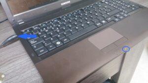 cambio conector portatil laptop dc jack teclado samsung r540-29